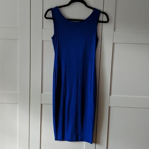 ❄️ 3/$25 Royal Blue Basic Dress with Back Drape
